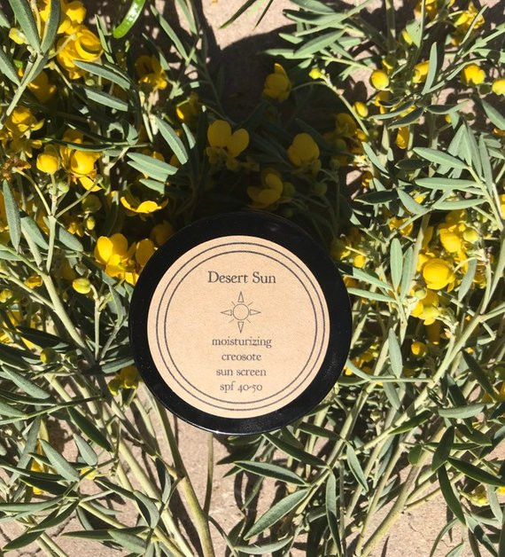 Desert Sun creosote sunscreen from Sonoran Rosie.