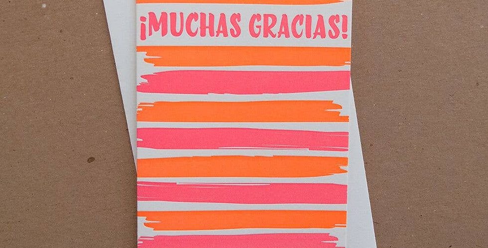 Muchas Gracias – Letterpressed Card