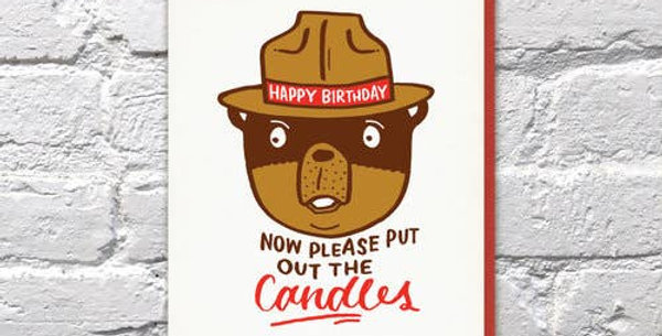 Blow Out The Candles – Letterpressed Card