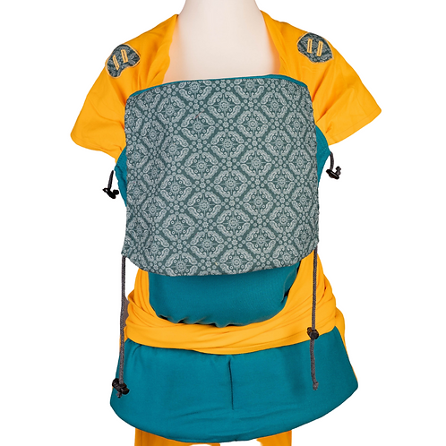 """Wrap.it Toddlersize  """"Turquoise Patterns in Yellow"""""""