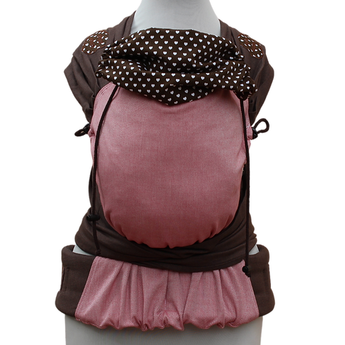 """Wrap.it Toddlersize """"Brown and Rose Hearts"""""""