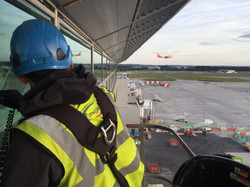 Abseil Cleaning at a London Airport by Insightuk