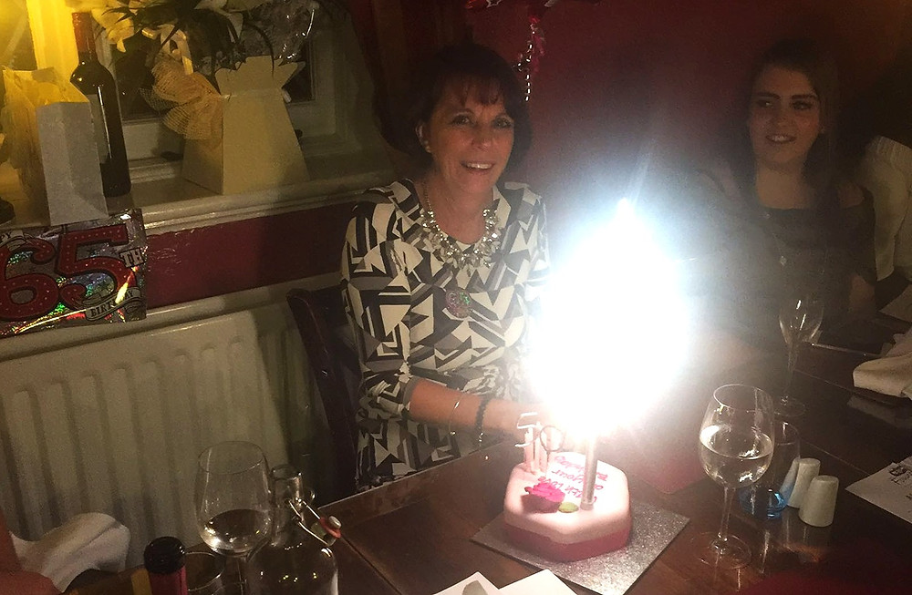 Lyn Pearson from Insightuk 10 years Service and Birthday