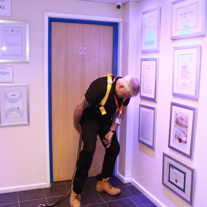 Boss man putting on a Harness Insightuk (5)