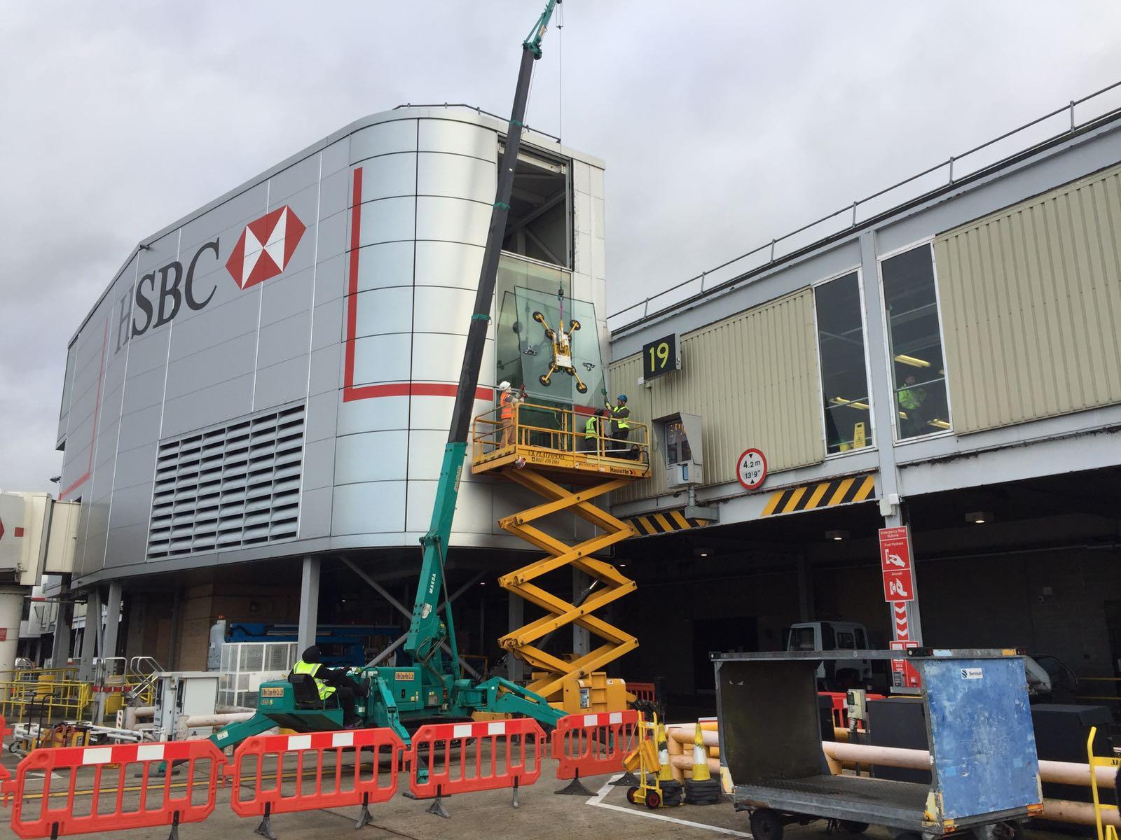 Gatwick HSBC Glass Replacement