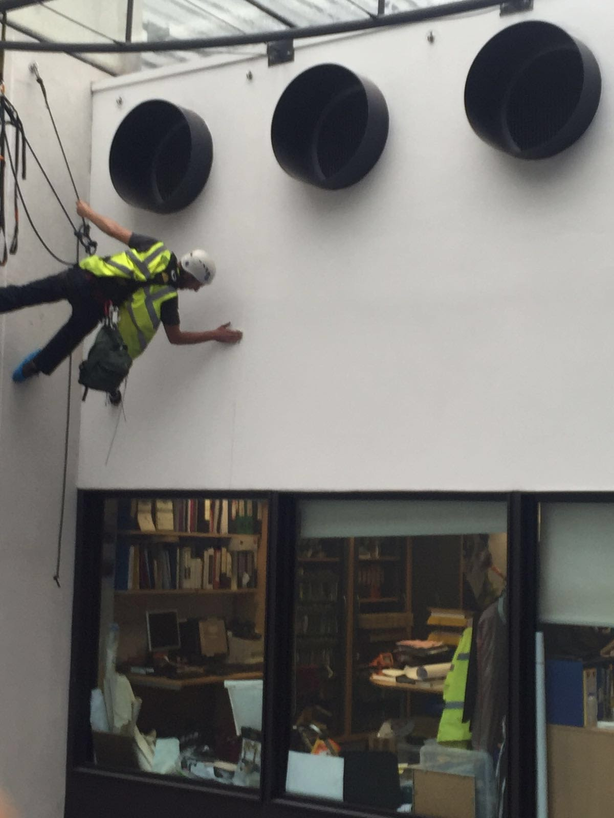 An Insightuk Abseiler making sure everything is perfect