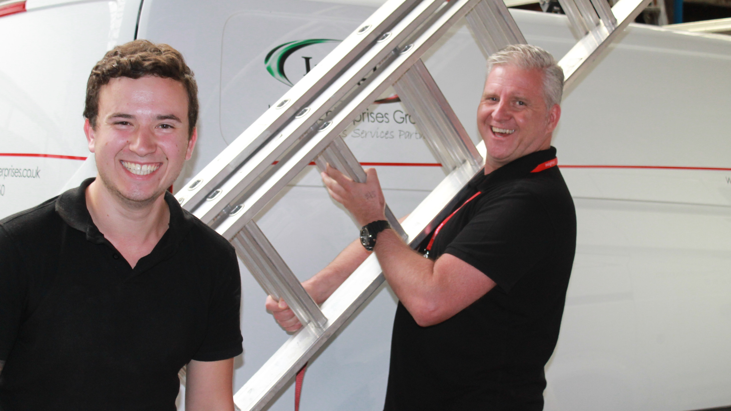 Danny Ratcliffe with Ladders