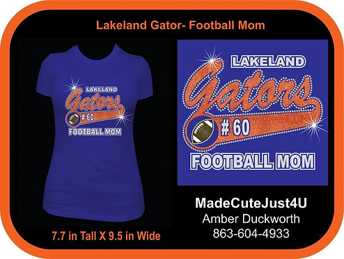 Football Mom Glitter - Women's Fitted Tee