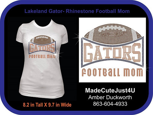 Football Mom Rhinestone - Women's Fitted Tee