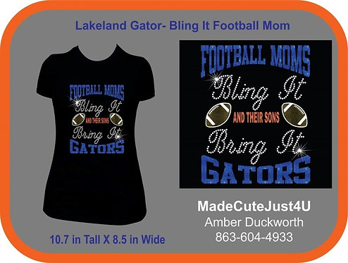 Football Mom Bling It  - Women's Cut Tee