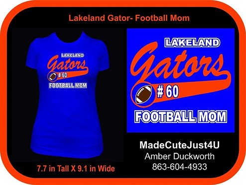 Football Mom  - Women's Fitted Tee