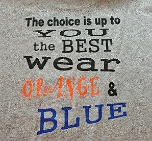 Best....Blue & Orange Tee