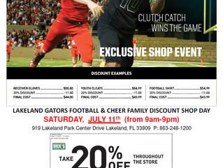 20% Off at Dicks for Lakeland Gators 7/11