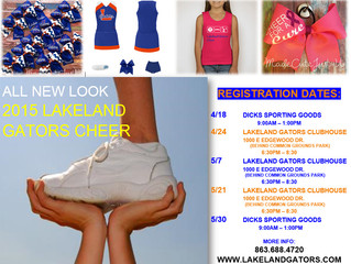 All New Look for 2015 Cheer!  Be the First to wear our New Varsity Brand Uniforms!