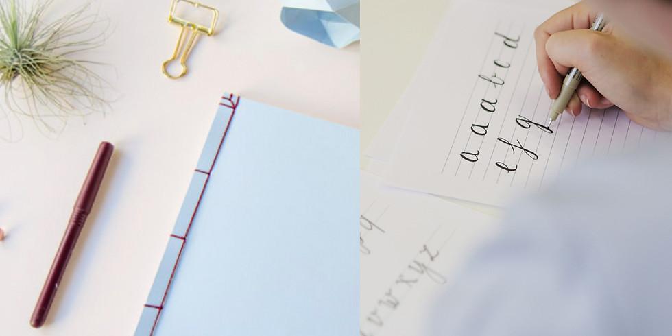 Duo workshop Handletteren / Japans Notitieboekje