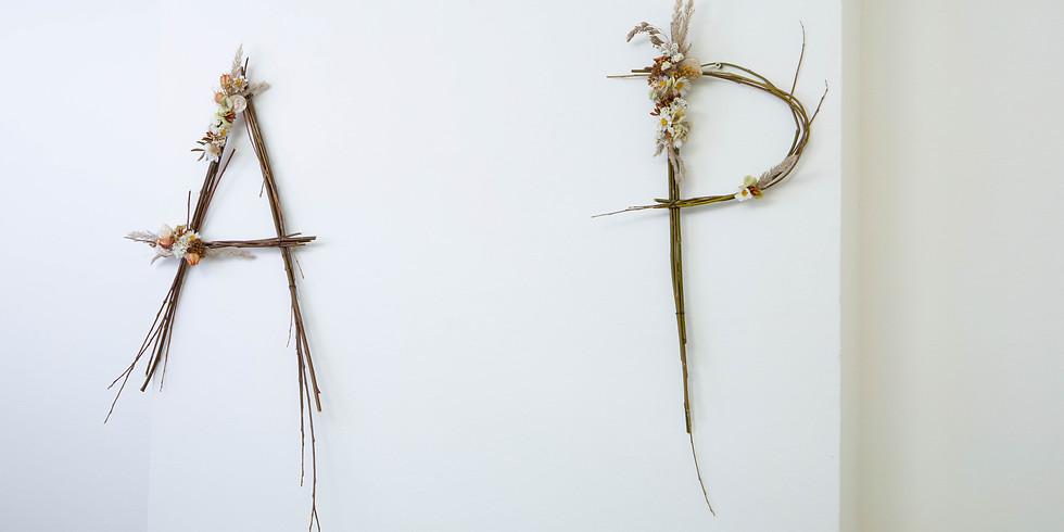 Workshop Twijgen letter met droogbloemen