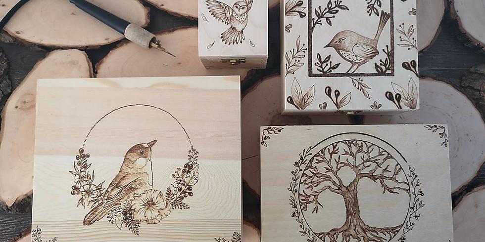 Workshop Pyrografie - houten doos