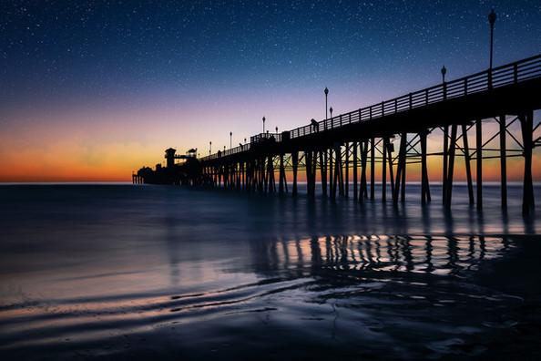 Oceanside Pier at Sunset | Long Exposure