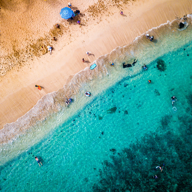 Maui | Kapalua Beach | Aerial Diagonal