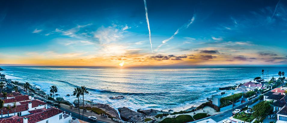 Windansea Sunset Panorama