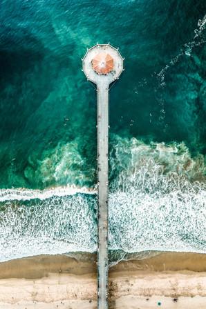 Los Angeles   Mahattan Beach Pier   Aerial