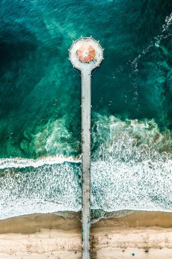 Mahattan Beach Pier | Aerial