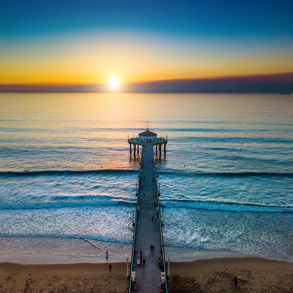 Los Angeles   Manhattan Pier Sunset