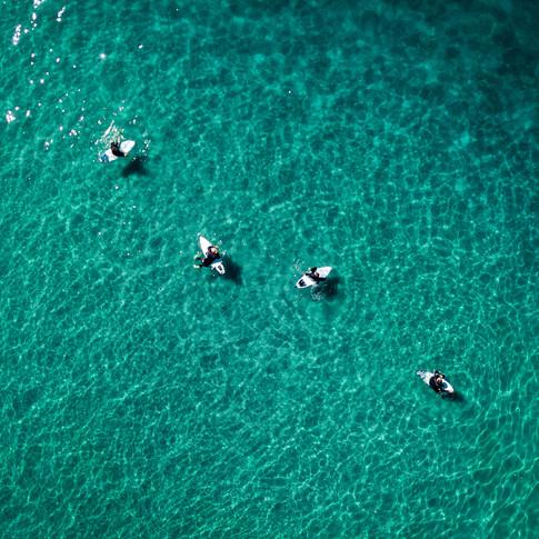 Encinitas   Moonlight Beach Surfers