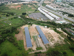 Aerial View of Both Solar Plants Build by Ennesa Power