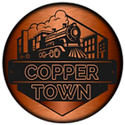 copper town bam logo train town