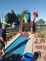 golf land mini golf cambell california man golf balls hit