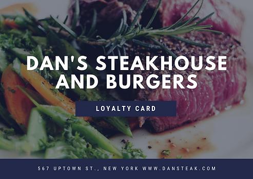 Navy Blue Modern Steak Grilled Loyalty C