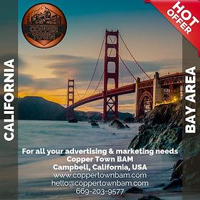 Copper Town San Francisco Bay Area Advertising Marketing Golden Gate Bridge logo ocean rocks sunset sunrise