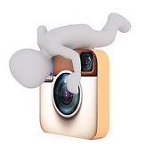 3D man Instagram