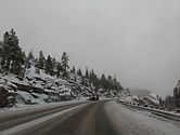 California Lake Tahoe snow roads slippery trees roads barrier high altitude dangerous