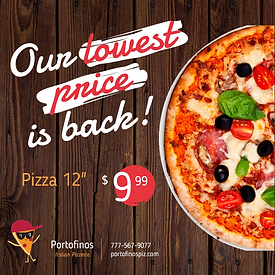 Pizza Ad Digital Design Advertising Marketing Social media low price