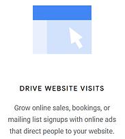 google ads drive website visits