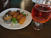 food drink appetizer beer corn dogs restaurant bar brewery brew city santa clara california