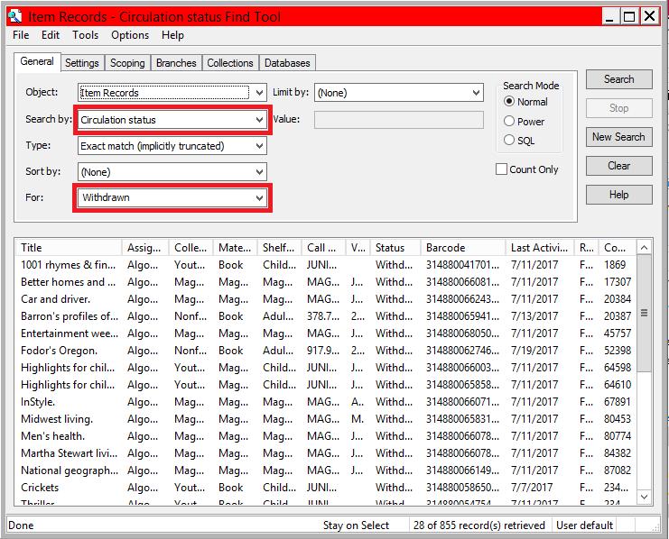 Find Tool Withdrawn Circulation Status.p