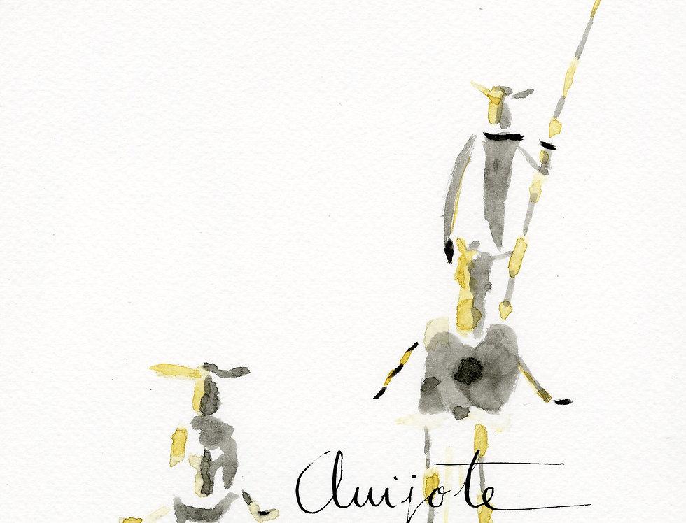 ACUARELA Quijote y Sancho