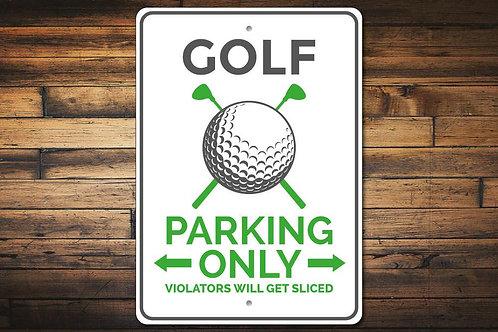 Golf Parking Sign