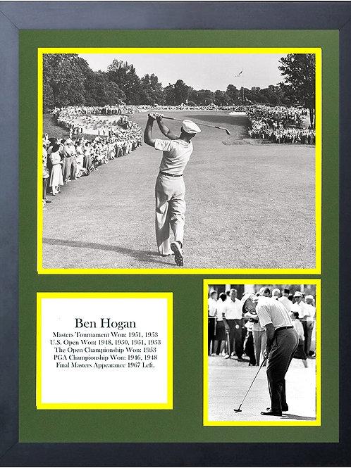 11 x 14 Framed  prints Ben Hogan collage art
