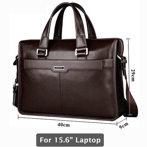 Genuine Leather Briefcase, Laptop Leather Bag, 15.6 Inch Laptop Bag
