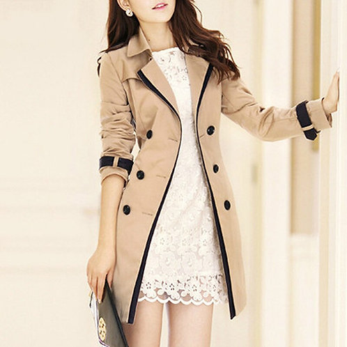 Trench Coat for Women Casual Double Breasted Long Trench Coats