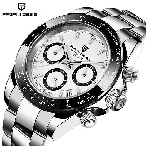 PAGANI DESIGN Men's Watches Quartz Business Watch Auto Date Mens Chronograph