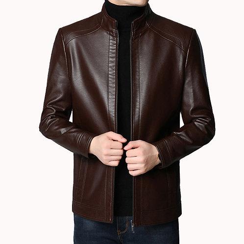 Men Leather Suit Short Coat Fashion Leather Streetwear Casual Blazer Jacket