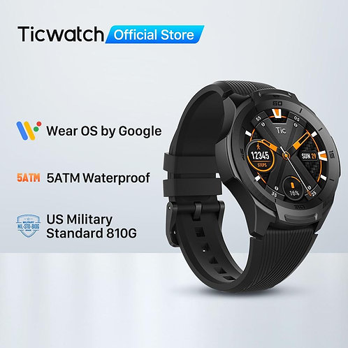 Wear OS by Google Smartwatch Bluetooth GPS Sport Watch for Men 5ATM