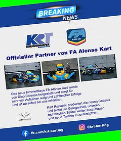 Offizieller Partner von FA Alonso Kart