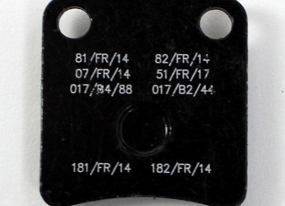 Bremsbelag vorne KZ/DD2 schwarz - Mini hinten schwarz