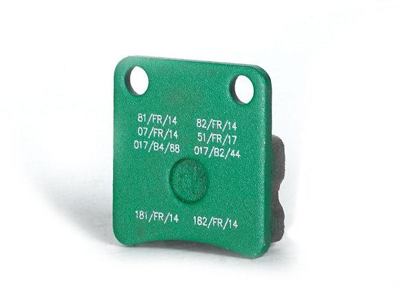 Bremsbelag vorne KZ/DD2 grün - Mini hinten grün